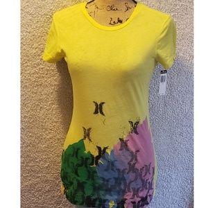 NWT Hurley tshirt sz medium yellow
